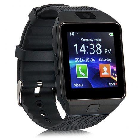Έξυπνο Ρολόι Bluetooth Με Οθόνη Αφής και Υποδοχή Κάρτας Sim Mαύρο (DZ09)