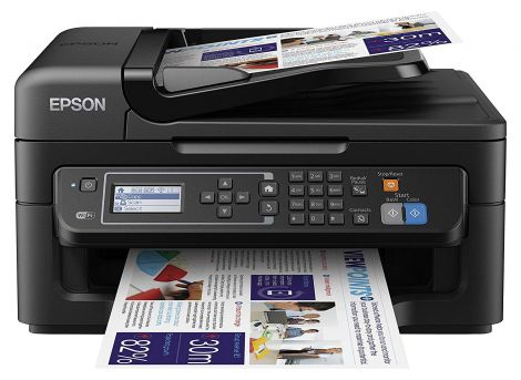 Epson WorkForce 2630WF 4 in 1 Multifunction Printer Black  (Print, Scan, Copy, Fax, Wifi, Document Feed)