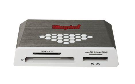 Kingston FCR-HS4 USB 3.0 Hi-Speed Media Reader (Grey/White)