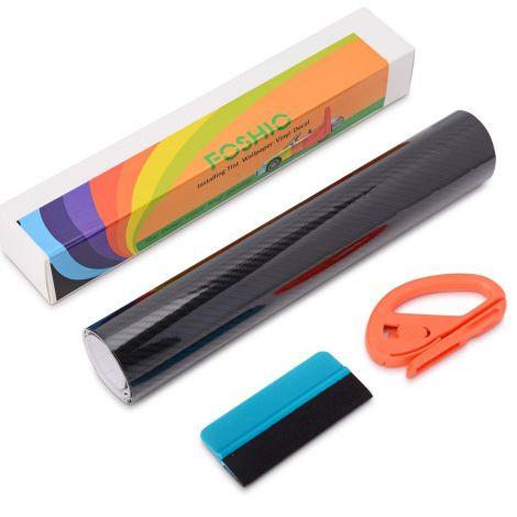 FOSHIO 5D Carbon Fiber Vinyl Film Wrapping Set Black (150x30CM)