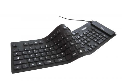 Flexible Full Sized Keyboard  USB and PS/2