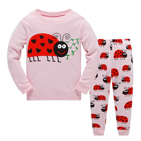Garsumiss Girls Pyjamas Set Cute Kids Long Sleeve Cotton Pjs Pajama Sleepwear Tops Shirts & Pants (4 years)