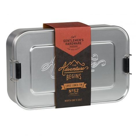 Gentleman's Tools Silver Aluminium Lunch Tin (Large)