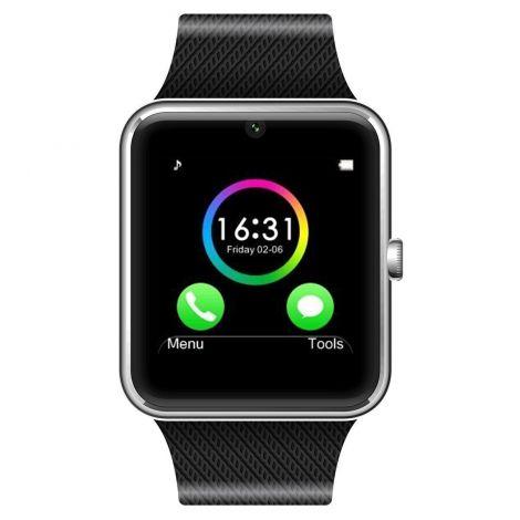 Έξυπνο Ρολόι Bluetooth Με Οθόνη Αφής και Υποδοχή Κάρτας Sim Ασημί (GT08)