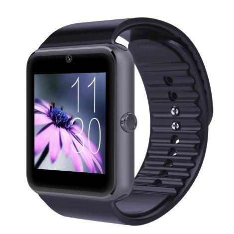 Έξυπνο Ρολόι Bluetooth Με Οθόνη Αφής και Υποδοχή Κάρτας Sim Μαύρο (GT08)