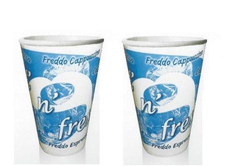 Χάρτινα Ποτήρια Καφέ  Διπλού Τοιxώματος Για Κρύα Ροφήματα 16oz 50pcs (PF-0216)