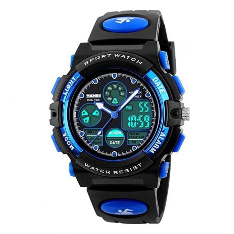 Hiwatch Waterproof Digital Kids Sport Watch with Chronograph-Blue (HI131834)