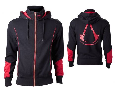 Assassin's Creed Rogue Hooded Zip Black-red size XL