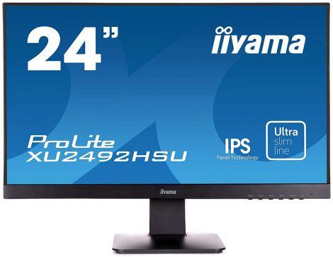 """iiyama 24"""" ProLite IPS Slim LED Monitor - Black (XU2492HSU-B1)"""