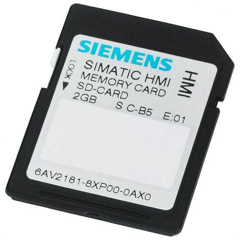 Siemens Simatic HMI Κάρτα Μνήμης 2GB (6AV21818XP000AX0)