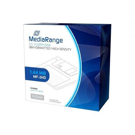 """MediaRange 3.5"""" 1.44MB MF-2HD Floppy Disc (Pack of 10)"""