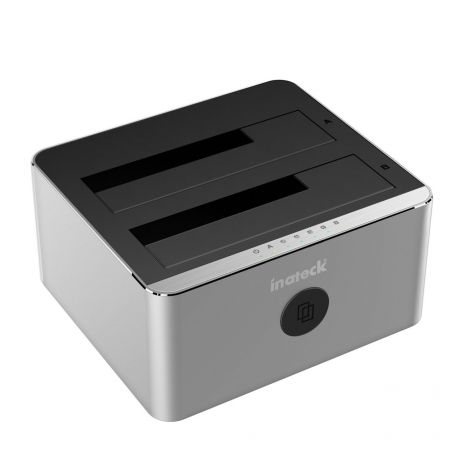 Inateck Aluminum USB 3.0 to SATA Dual-Bay Docking Station for 2.5 Inch & 3.5 Inch HDD SSD (FD2102)