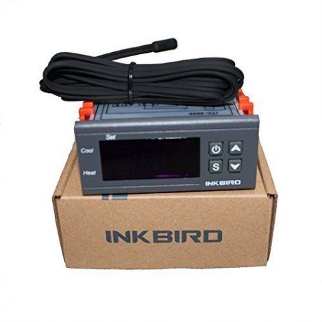 Inkbird 220V All-Purpose Temperature Controller Thermostat Calibration Fahrenheit Centigrade Display + Sensor Probe 1 Relay 1 Alarm Output (ITC-2000)