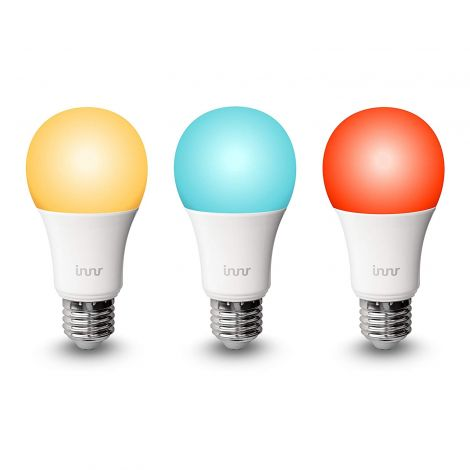 Innr E27 Smart RGBW LED Bulb, Colour, dimmable (Compatible with Hue, Echo Plus & Alexa) RB 185C (3-Pack)