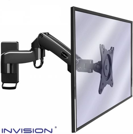 Invision Monitor Wall Mount Bracket for PC Monitor & TV 17 to 27 inch Tilt Swivel & Rotate - VESA 75x75mm & 100x100mm (MX250)