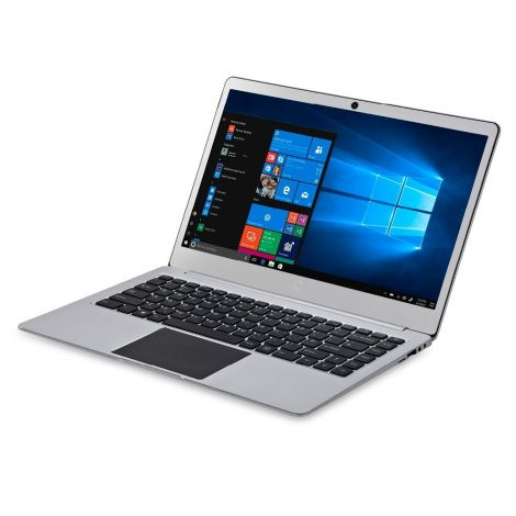 "iOTA Slim 14"" FHD Metal Laptop (Silver) - (Intel Quad Core Pentium N4200 (Burst 2.5GHz) Processor, 4 GB RAM, 32 GB eMMC Storage, QWERTY UK Keyboard, Windows 10)"