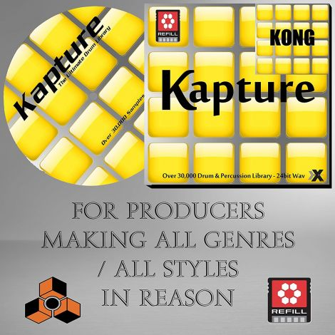 KAPTURE Reason Refill Version -  Drum Percussion Library 30,000 Samples