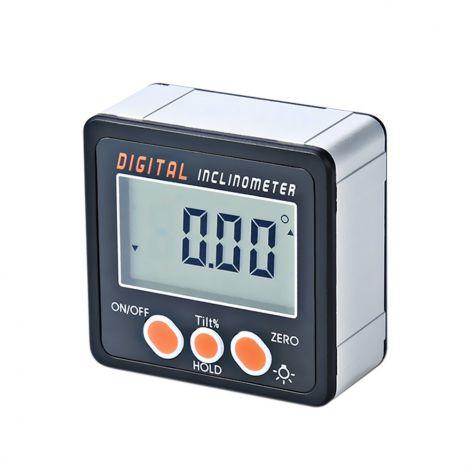 KKmoon 0-360° Digital Inclinometer Aluminum Alloy Shell Digital Bevel Box Angle Gauge Meter Magnets Base