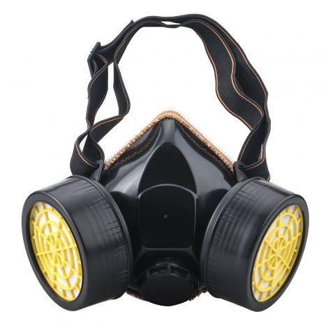 Βιομηχανική Μάσκα PVC Διπλού Αναπνευστήρα για Σκόνη Χημικά Αέρια και Μπογιά (PVC2F)