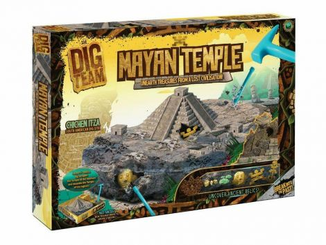 Mayan Temple Kids Discovery Toy Hidden Treasure Educational Children Excavation