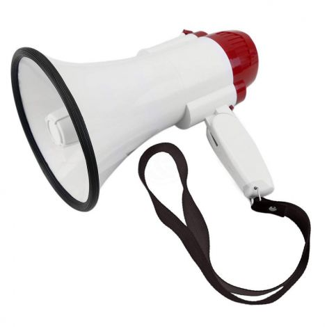 150x250mm 10W Megaphone with siren and 10s recording