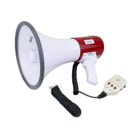 Megaphone with siren and 10s recording 230x350mm 25W