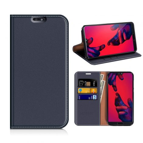 Mobesv Huawei P20 PRO Wallet Leather Case Flip Cover Stand - Dark Blue