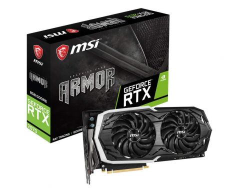MSI Nvidia Geforce RTX 2070 ARMOR 8G FH GDDR6 DP/HDMI Turing VR 4K PCI Express Graphics Card