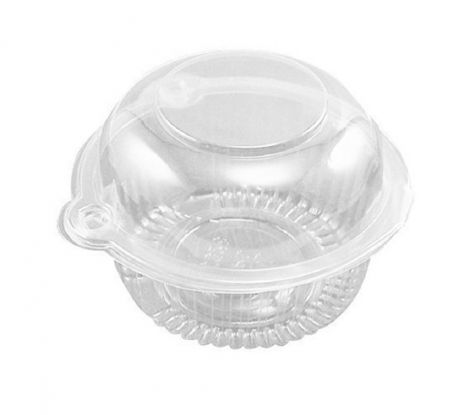 50 Individual Clear Plastic Single Cup Cake Muffin Case