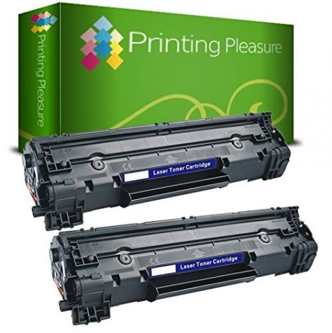 Printing Pleasure Compatible CF283A / 83A Laser Toner Cartridges for HP Laserjet Pro Printers - Black (Pack of 2)