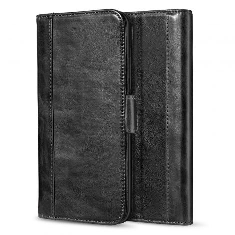 ProCase Huawei P20 Pro Vintage Genuine Leather Case Wallet With Kickstand (Black)