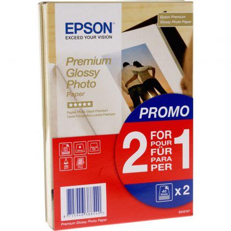 Epson Premium Glossy Φωτογραφικό Χαρτί 40 Φύλλα 2τμχ.