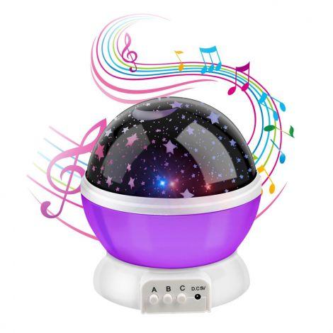 Star Night Star Light Μusic Led Night Projector (Purple)