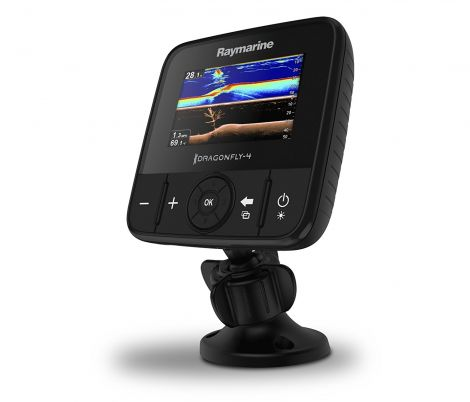 RAYMARINE E70294 – Dragonfly 4PRO Sonar Fish Finder with CHIRP DownVision (10,9 cm (4,3 inch), WiFi, GPS