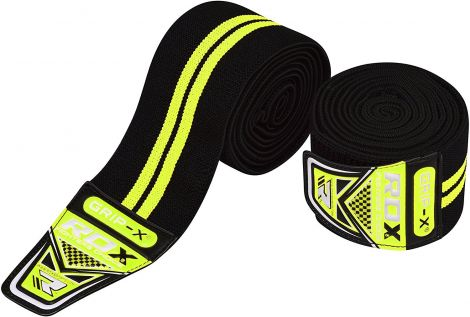 RDX Knee Wraps Weight Lifting Bandage Straps Guard Powerlifting Pads Sleeves Gym (One size)
