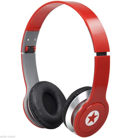 DJ Style Foldable Over Ear Headset Wired 3.5mm (301771)