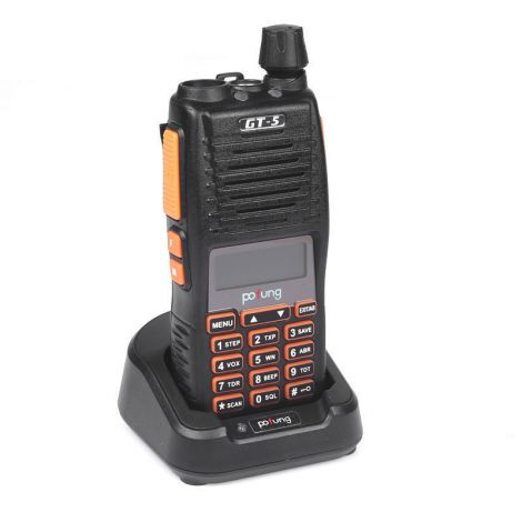Pofung Επαγγελματικός Προγραμματιζόμενος Πομποδέκτης VHF UHF Διπλό PTT (GT-5)