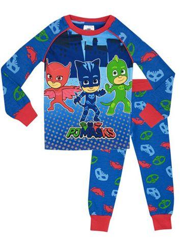 Boys PJ Masks Long Pyjama Set - PJ Mask Pyjamas - Size 8-9 years