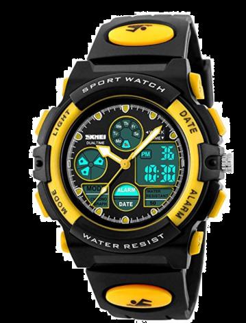 Hiwatch Waterproof Digital Kids Sport Watch with Chronograph-Yellow (HI131834YE)