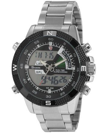 Shark Mens Digital Analog Chronograph Date Day Sport Quartz Watch (DS006S)