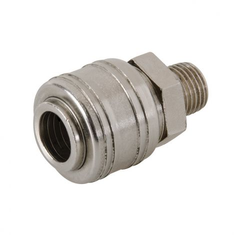 Silverline Euro Air Line Male Thread Quick Coupler 1/4-inch BSP (237552)