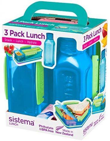 Sistema Lunch Box Trio Pack (Blue)