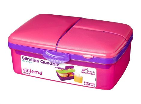 Sistema Lunch Slimline Quaddie, 1.5 L - Pink/Purple