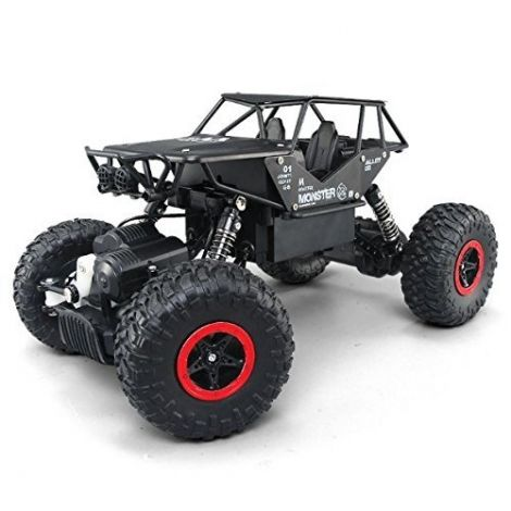 SZJJX RC Off-Road Rock Vehicle Climber Truck 2.4Ghz 4WD High Speed 1:14 Radio Remote Control Electric Car (Black)