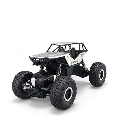 SZJJX RC Cars Off-Road Rock Vehicle Climber Truck 2.4Ghz 4WD High Speed 1:14 Radio Remote Control Racing Cars Electric Fast Race Buggy Hobby Car (Silver)
