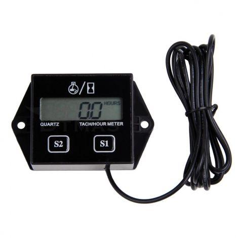 Ψηφιακό Στροφόμετρο RPM και Μετρητής Ωρών Με Οθόνη LCD (TACH1)
