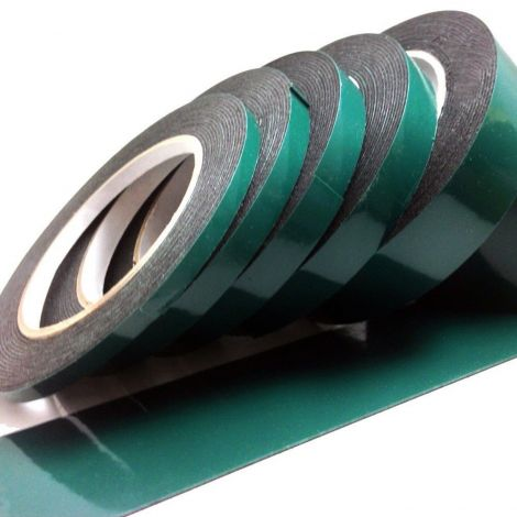 Black double sided Automotive Permanent car body trim self adhesive foam tape (25mm x 10m)