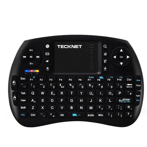 TeckNet Ασύρματο Μίνι Πληκτρολόγιο με Touchpad για Kodi XBMC Media Player