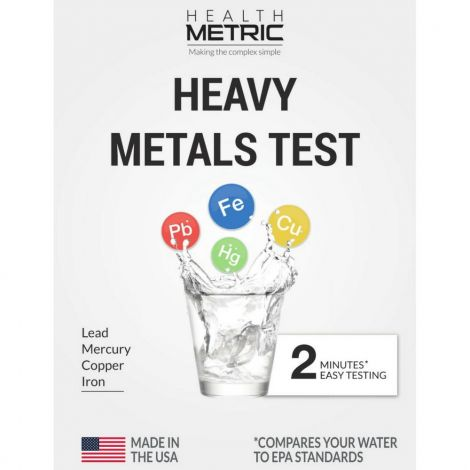 Health Metric Lead Iron Copper and Mercury Water Test Kit for Well Tap and Drinking Water