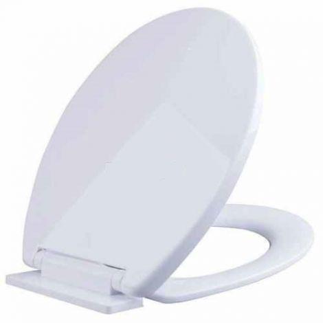 BATHROOM SLOW SOFT CLOSE WHITE TOILET SEAT BOTTOM FIXING